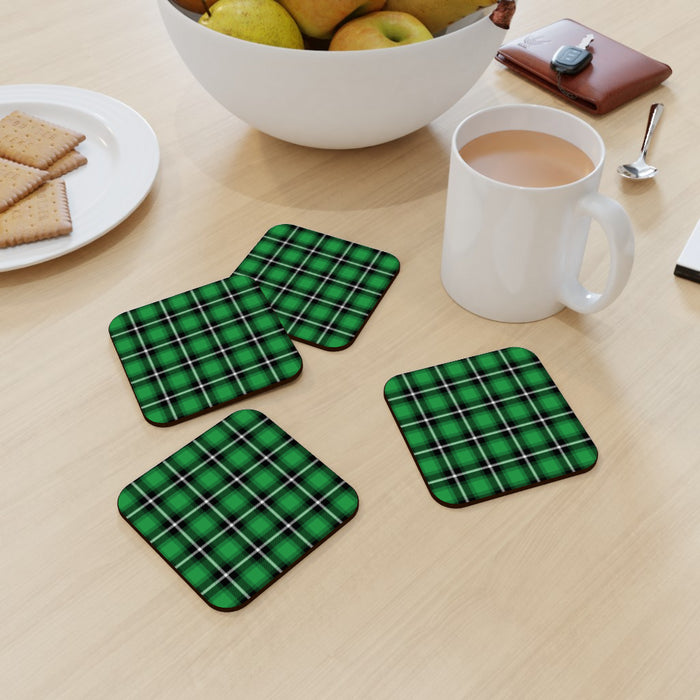 Coasters - Textured Fabric Green - printonitshop