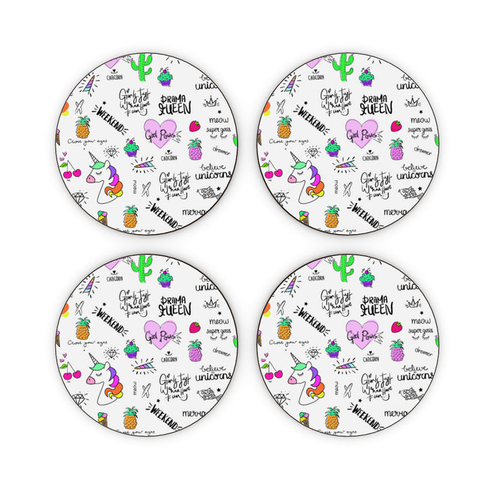 Coasters - Girl Power - printonitshop