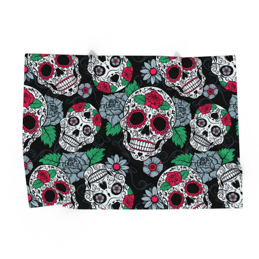 Pet Blankets - Skulls and Roses - printonitshop