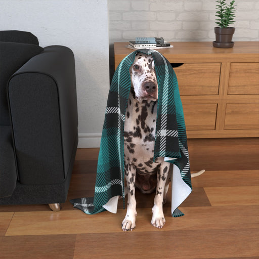 Pet Blankets - Blue Crosshatch - printonitshop
