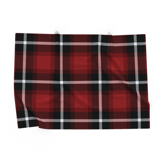 Pet Blankets - Red Crosshatch - printonitshop