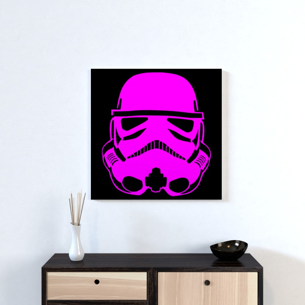 Wall Canvas - Pink Trooper, Textiles by Print On It