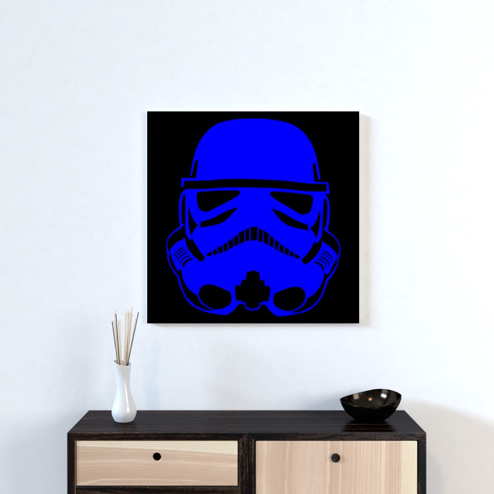 Wall Canvas - Blue Trooper, Textiles by Print On It
