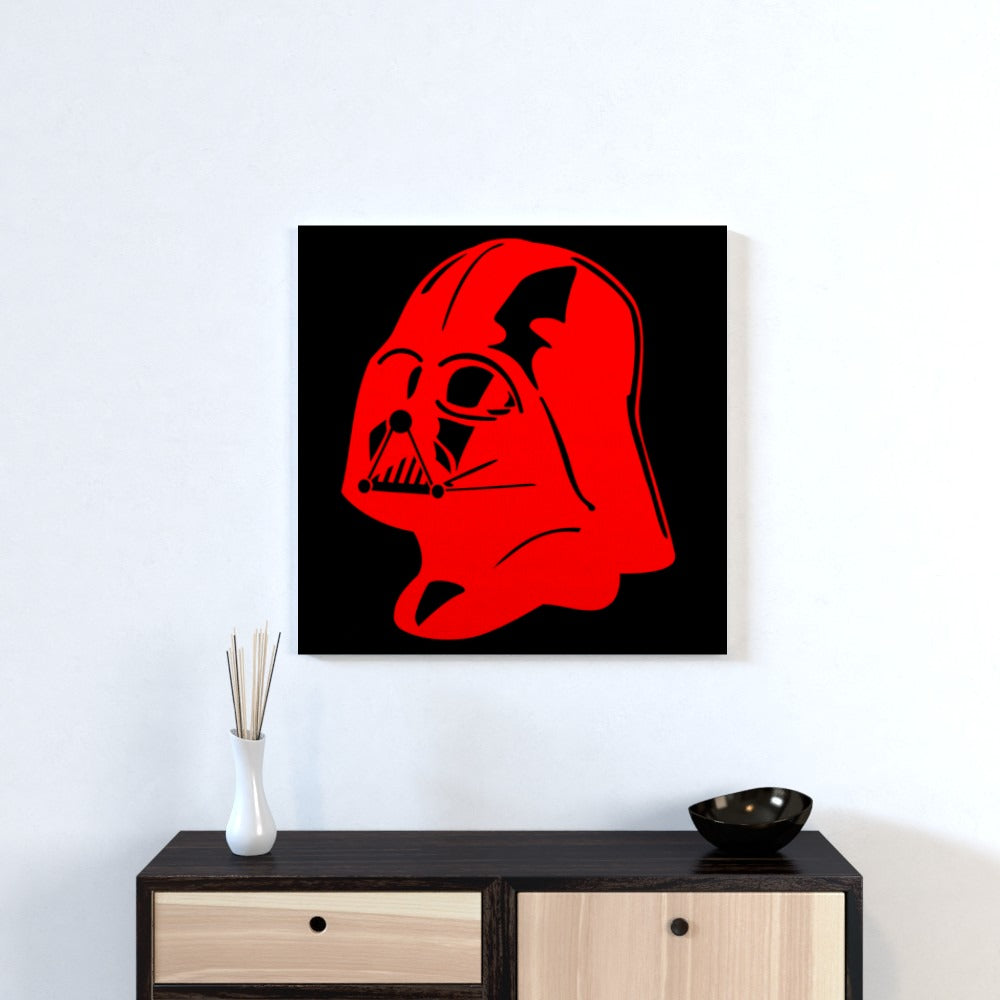 Wall Canvas - Red Vader, Textiles by Print On It