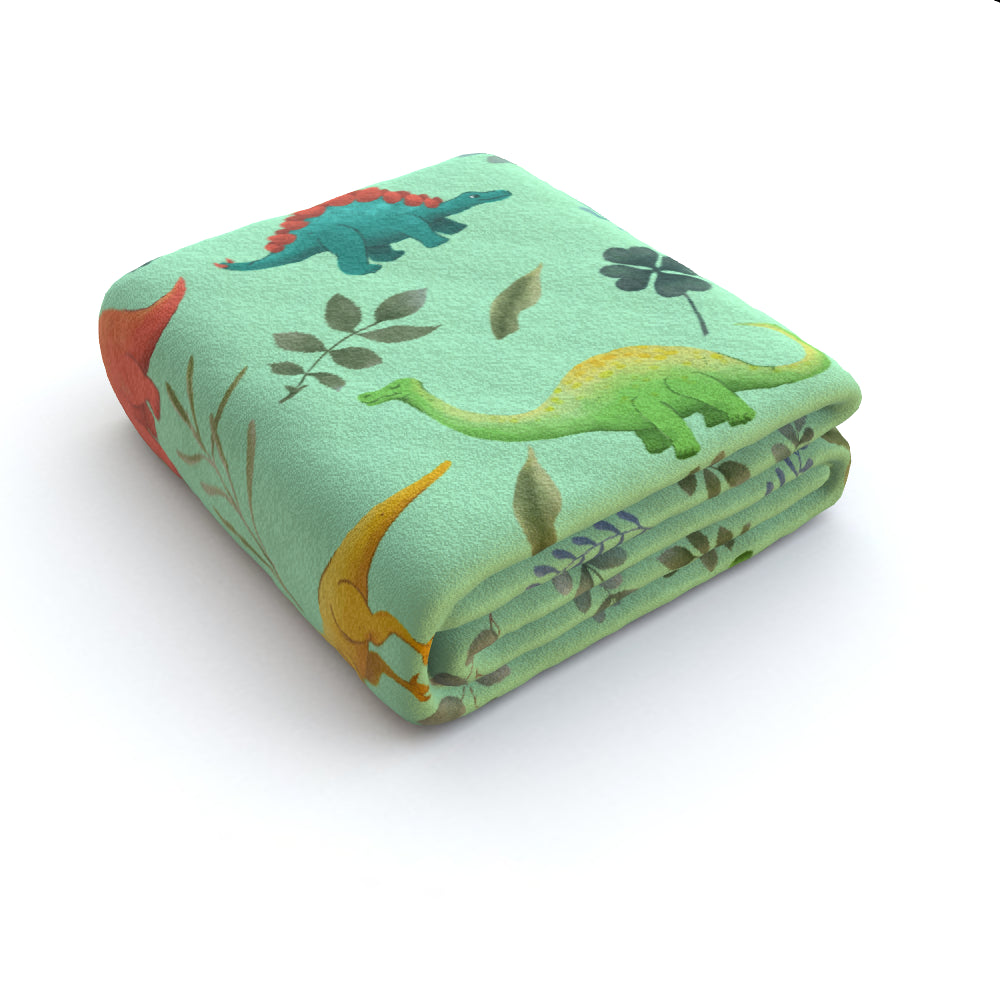 Blanket Throws - Dino Light, Linens & Bedding by Print On It
