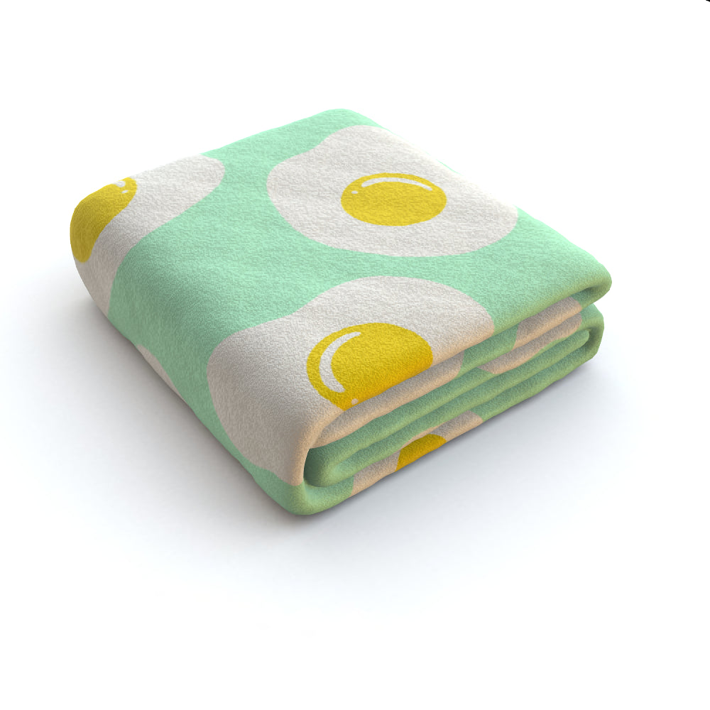 Blanket Throws - Sunny Side Up, Linens & Bedding by Print On It