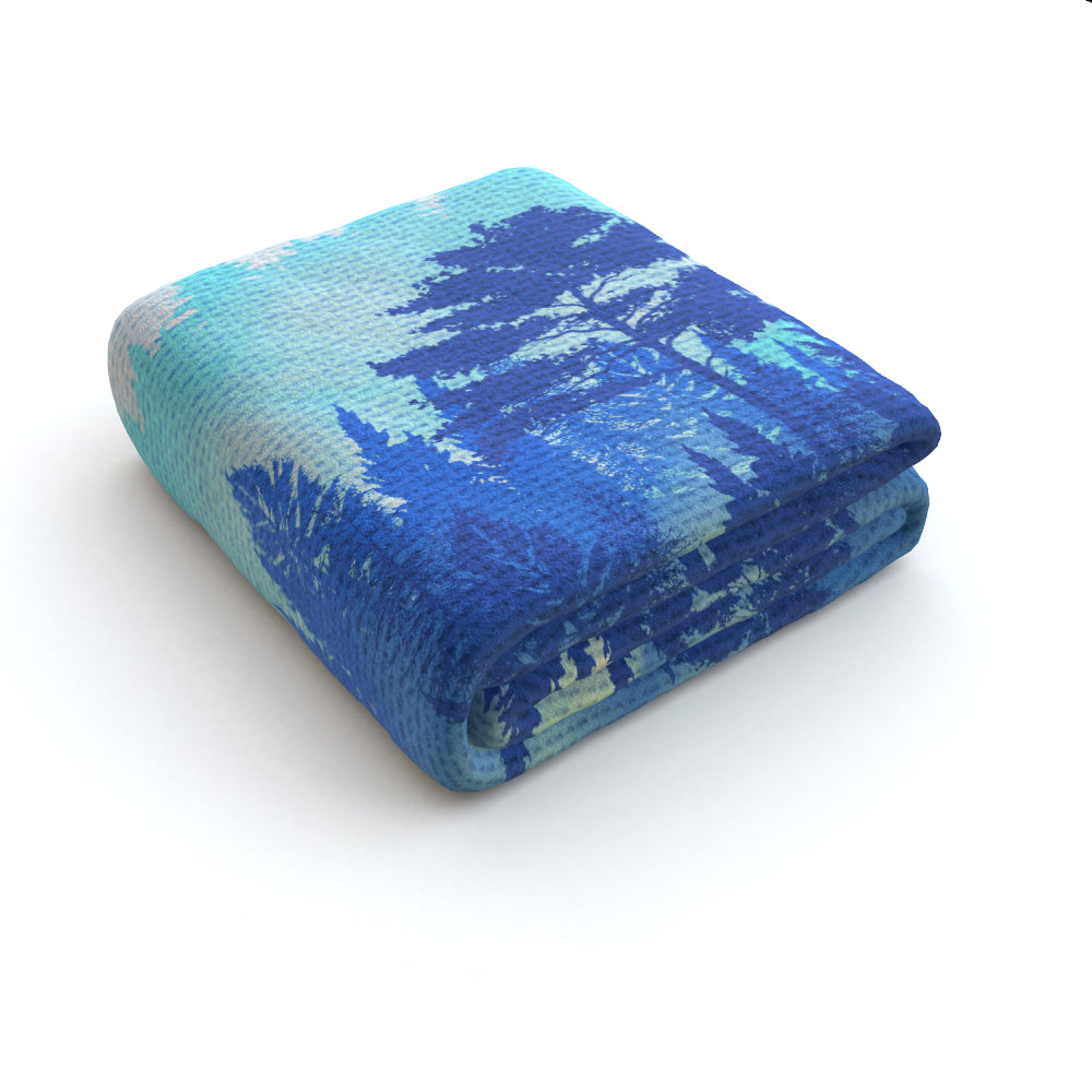 Blanket Throws - Forrest Blue by  Print On It
