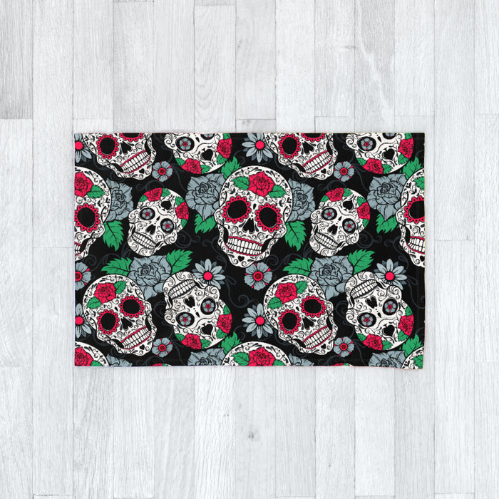 Blanket - Skulls and Roses - printonitshop
