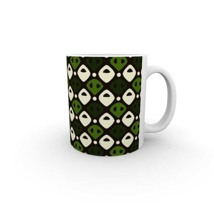 11oz Ceramic Mug - Abstract Green - printonitshop