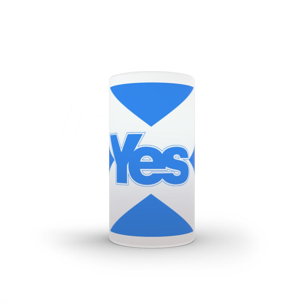 16oz Frosted Glass Stein - Scotland Yes by  Print On It