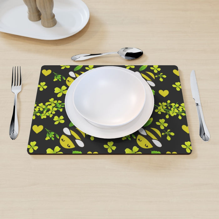 Placemat - Bees on Black - printonitshop
