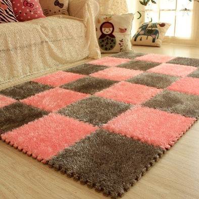 Jigsaw Cutable Velvet Floor Mat,Anti-Cold Crawling Mat.