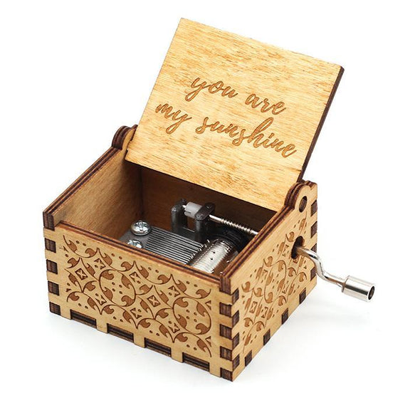 MINI™ Wooden Carved Music Box