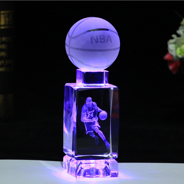 Tribute-Forever Kobe Bryant Crystal sculpture