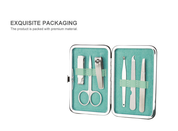 Multi-functional Manicure Set of 6Pack(Green)