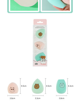 We Bare Bears Makeup Sponge 3 Pack