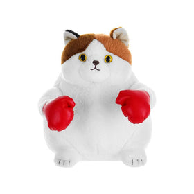 Boxing Kitten Plush Toy