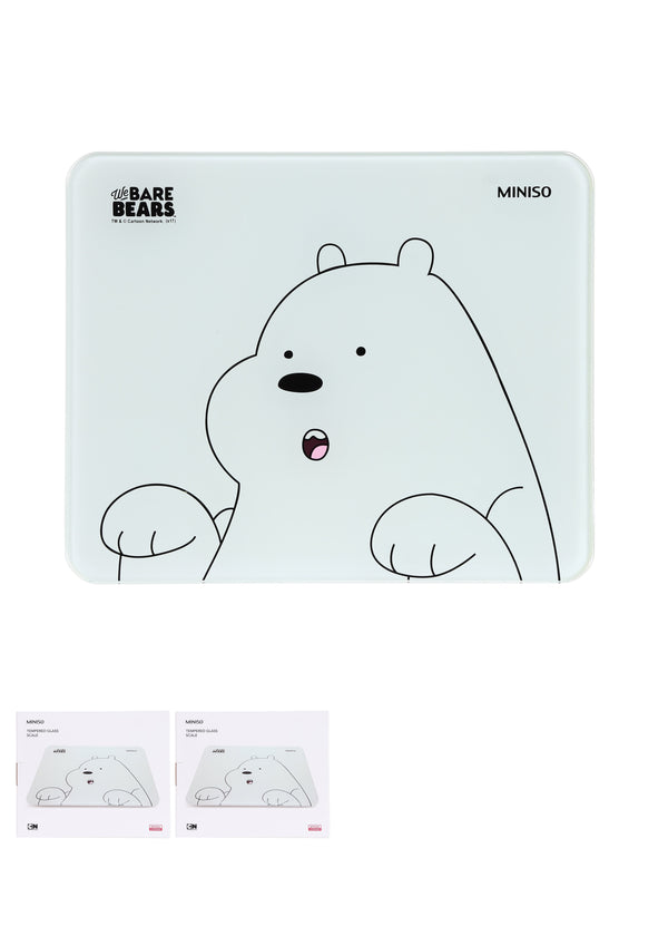 We Bare Bears - Tempered Glass Scale - Miniso Singapore