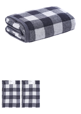 Simple Plaid Bath Towel