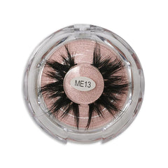 25mm Real Mink False Eyelashes ME13 (Pink Box)