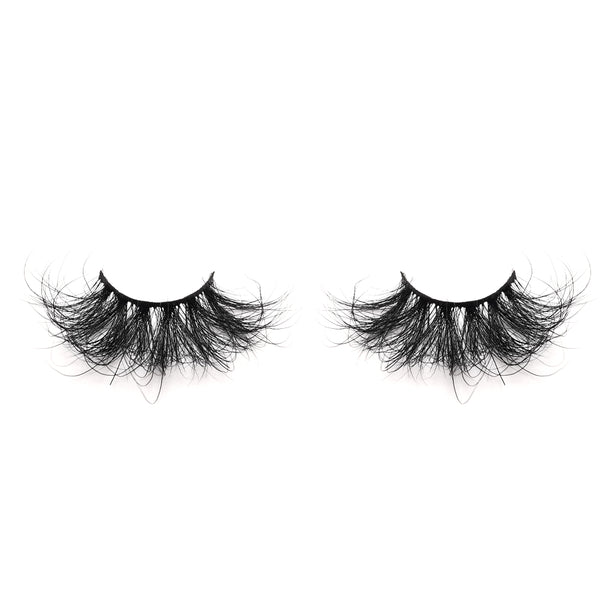 25mm Real Mink False Eyelashes ME15 (Pink Box)