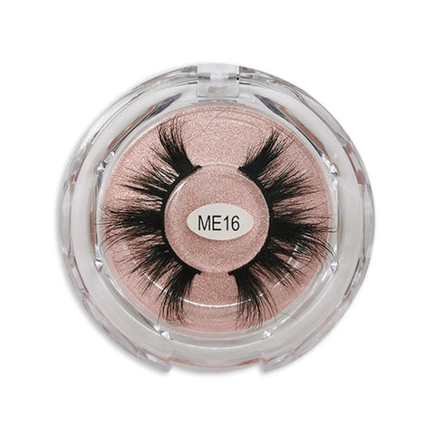 25mm Real Mink False Eyelashes ME16 (Pink Box)