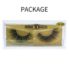 Big 3D Mink False Eyelash 3D-80