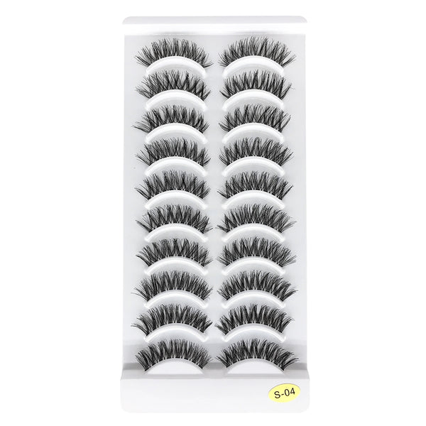 10 Pairs Lashes Handmade False Eyelashes S-04