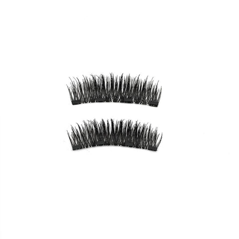 4 Magnets 3D Magnetic False Eyelashes With Quantum Lash Curler 24P-4