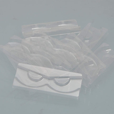 10PCS Plastic Clear Lashes Trays Eyelash Holders For 5 -20MM Lashes(NO LASHES)