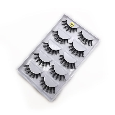 3D Mink Eyelashes Natural 5 Pairs F820