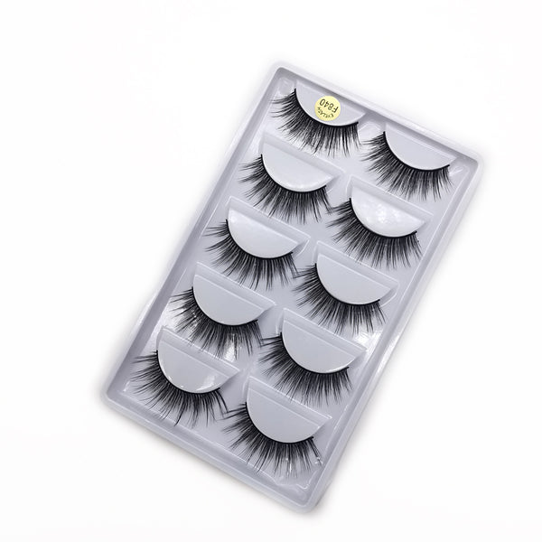 3D Mink Eyelashes Natural 5 Pairs F840