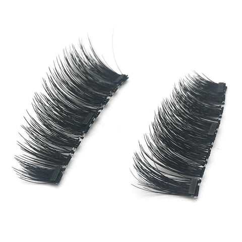 3 Magnets 3D Magnetic False Eyelashes With Quantum Lash Curler KS02-3
