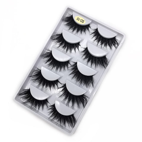 Faux Mink Lashes Pack 5 Pairs SD-10