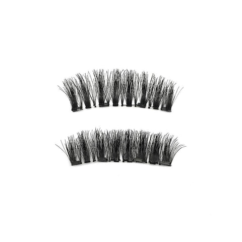 4 Magnets 3D Magnetic False Eyelashes With Quantum Lash Curler WSP-4