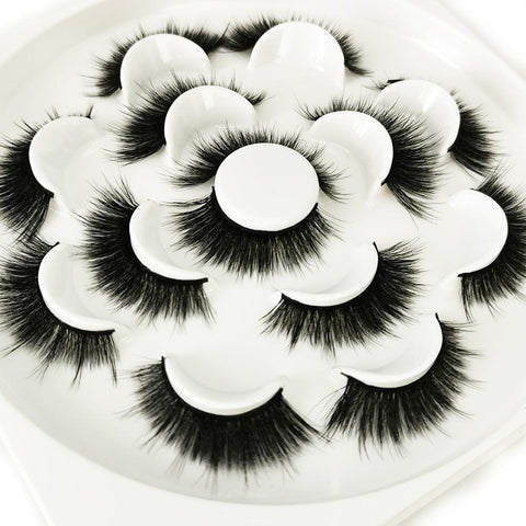 Faux Mink Volumn False Eyelashes 7 Pairs SD-06
