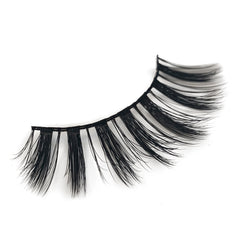Natural 3D Faux Mink Lashes Colorful Package with Lash Brush V03