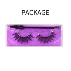 Natural 3D Faux Mink Lashes Colorful Package with Lash Brush V09
