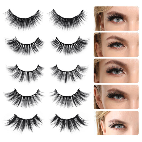 10 Pairs Magnetic Eyelashes with Eyeliner Kit, Natural Look & Glamnetic False Lashes with Applicator