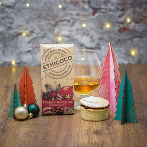 Vegan Milk Chocolate Brandy Mince Pie Edition by Ethicoco