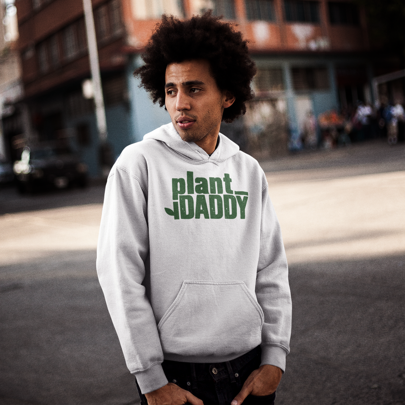 Plant Daddy with Leaf Men's Hoodie