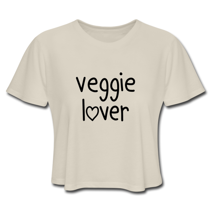 Veggie Lover Women's Cropped T-Shirt - dust