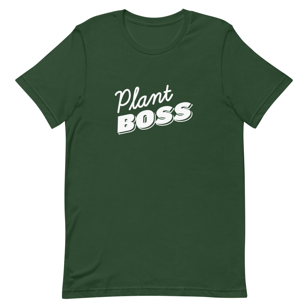 Plant Boss in White Lettering Short-Sleeve Men's T-Shirt