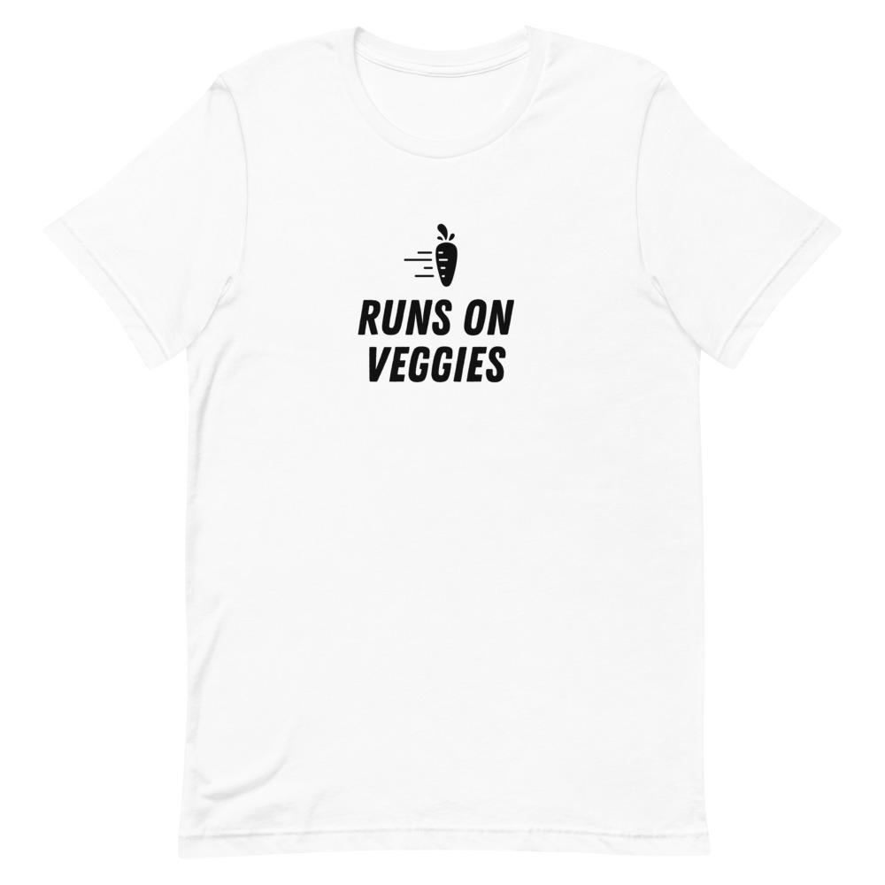Runs on Veggies in Black Lettering Short-Sleeve Women's T-Shirt