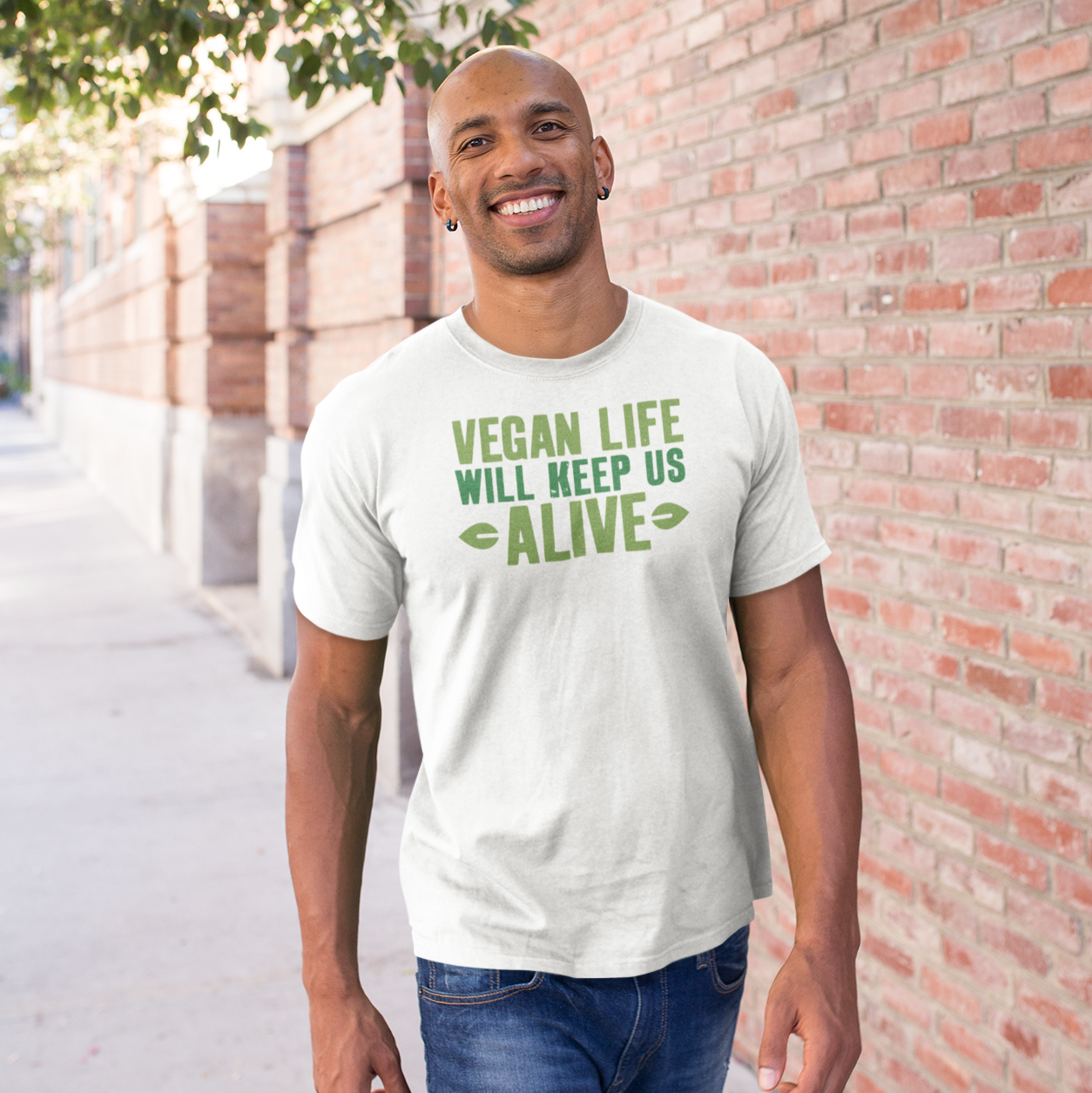 Vegan Life Short-Sleeve Men's T-Shirt