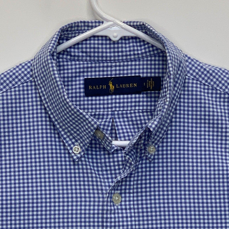 Ralph Lauren Blue Label Mens Checked Shirt Blue Medium