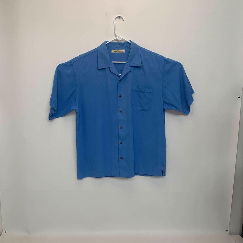 Tommy Bahama Mens Silk Shirt Blue Large