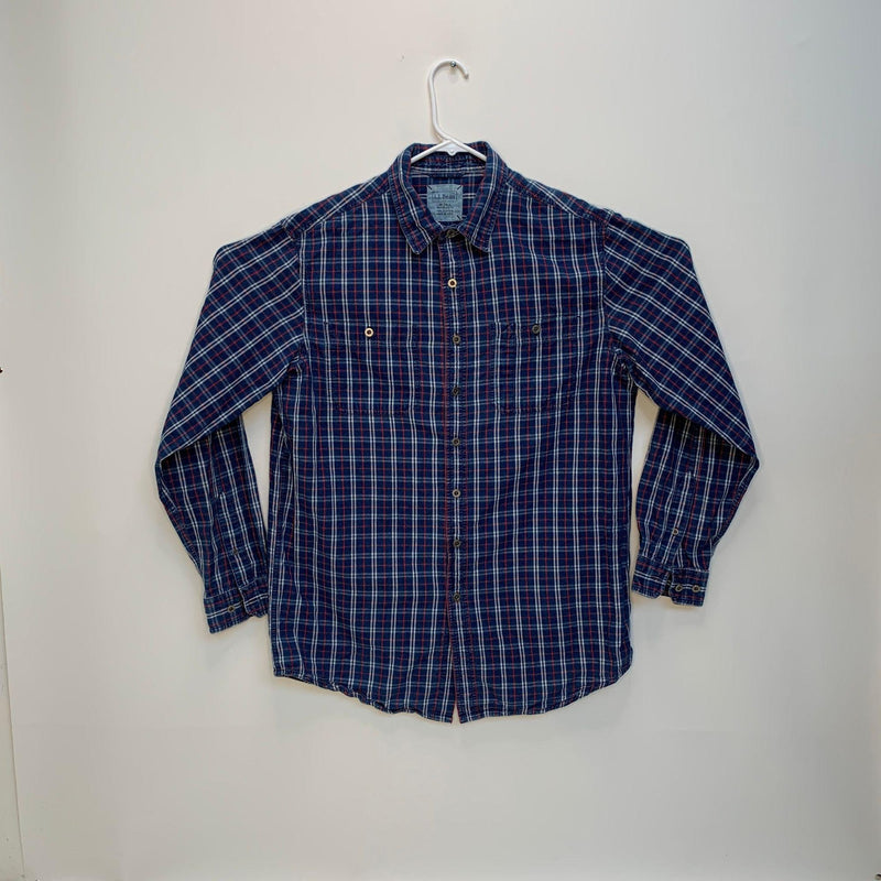 L.L.Bean Mens Checked Shirt Multicolor Medium Tall
