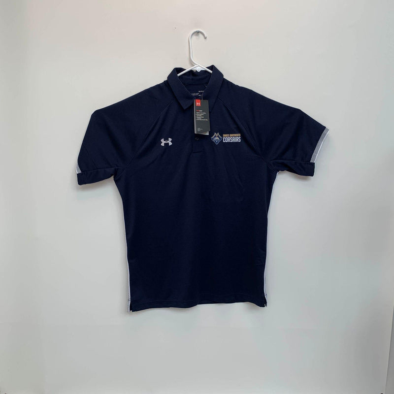 Under Armour UMASS Dartmouth Corsairs Mens Polo Blue Large NWT