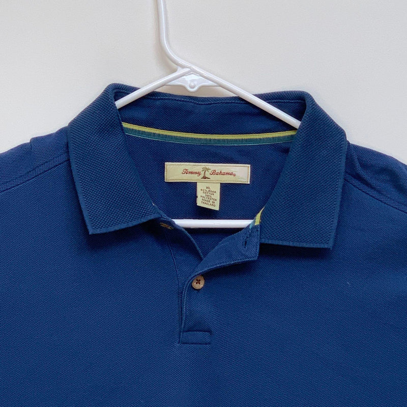 Tommy Bahama Mens Golf Polo Blue XL